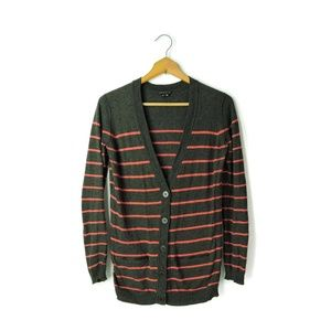 Theory Cotton Cashmere blend striped cardigan